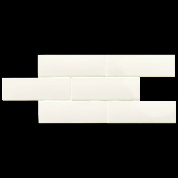 2 LONDON White 3x8.7 ceramic wall tile QDI Surfaces product image 800x800 1