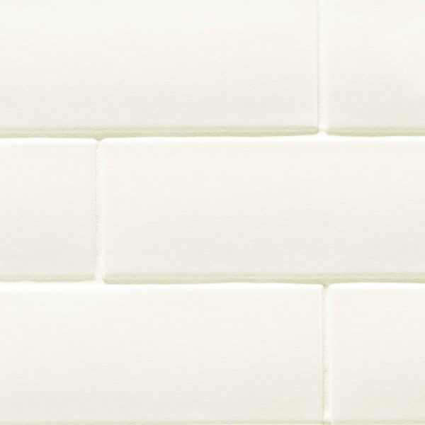 3 LONDON White 3x8.7 ceramic wall tile QDI Surfaces product close up 800x800 1