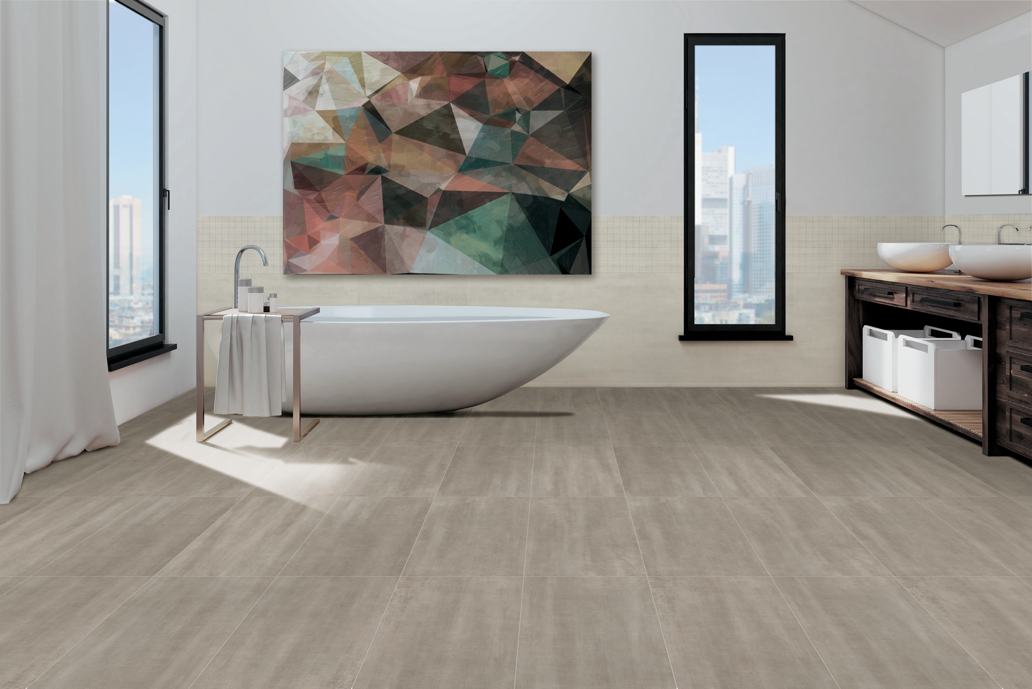 """Legacy - Taupe 12""""x24"""" Floor & Wall"""