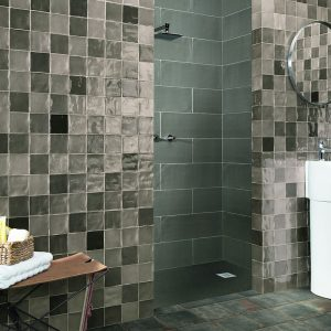 1 STOW Mix Grey 4x4 ceramic wall tile QDI Surfaces product room scene 800x800 1