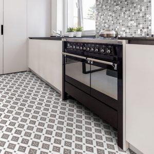 1 BOUQUET EIFFEL Single Piece Pattern 9.25x9.25 porcelain floor wall tile QDI Surfaces product room scene 800x800 1