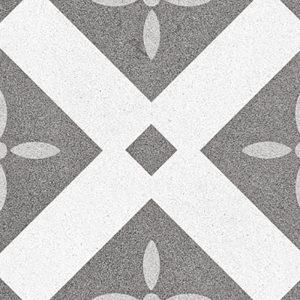 3 EIFFEL Single Piece Pattern 9.25x9.25 porcelain floor wall tile QDI Surfaces product close up 800x800 1