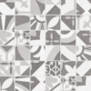 Bouquet Eiffel Porcelain Flooring Wall Tile 2x2 Mosaic Tile Decorative Glazed Gray White Beige Cream QDI Surfaces