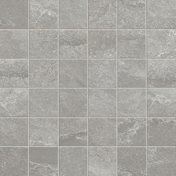 Dust Porcelain Mosaic Tile Board Collection 2x2 Indoor Gray QDI Surfaces