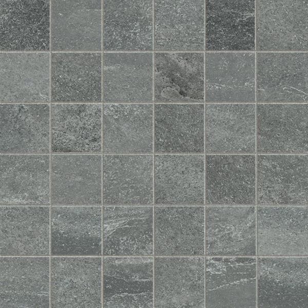 Graphite Porcelain Mosaic Tile Board Collection 2x2 Indoor Gray QDI Surfaces