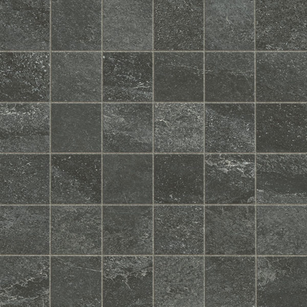 Inkwell Porcelain Mosaic Tile Board Collection 2x2 Indoor Gray Black QDI Surfaces