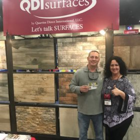 SW Pool and Spa Show San Antonio QDI Surfaces Travertine Porcelain Flooring Wall Tile Pavers - Gift Card Winner