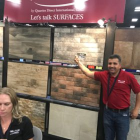SW Pool and Spa Show San Antonio QDI Surfaces Travertine Porcelain Flooring Wall Tile Pavers - Juan