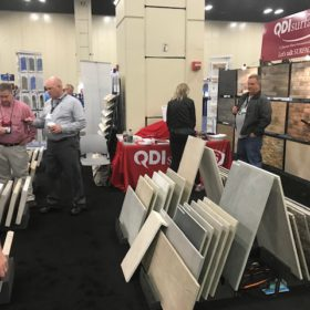 SW Pool and Spa Show San Antonio QDI Surfaces Travertine Porcelain Flooring Wall Tile Pavers - Show open, 3 R