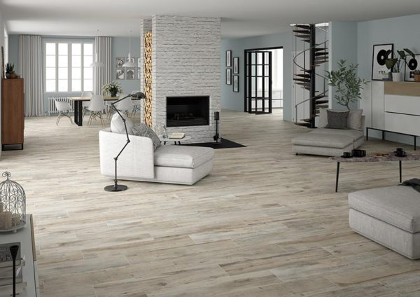 Shireen Grey 10x40 Glazed Rectified Porcelain Floor Wall Tile Gray Beige Cream QDI Surfaces