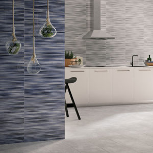 Valdivia Azul 12x24 Red Bodied Ceramic Wall Tile Blue White Black QDI Surfaces