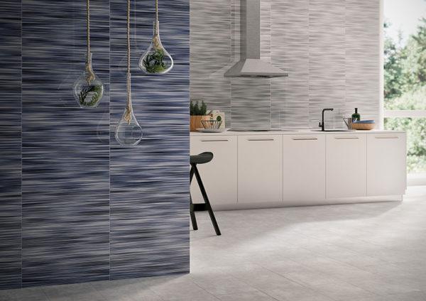 Valdivia Azul 12x24 Red Bodied Ceramic Wall Tile Blue White Black QDI Surfaces