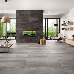 1 ACIER Silver 24x48 porcelain floor wall tile QDI Surfaces product room scene 800x800 1