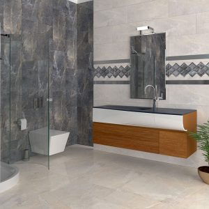 1 ALANYA Antracite 24x24 porcelain floor wall tile QDI Surfaces product room scene 800x800 1