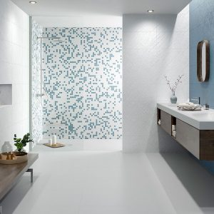 1 ATENEA Blanco 12x24 ceramic wall tile QDI Surfaces product room scene 800x800 1