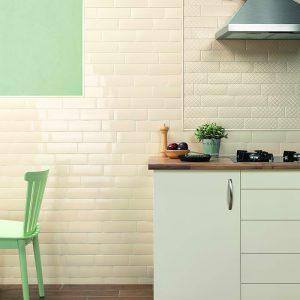 1 LONDON Camden Bone Deco 3x8.7 ceramic wall tile QDI Surfaces product room scene 800x800 1