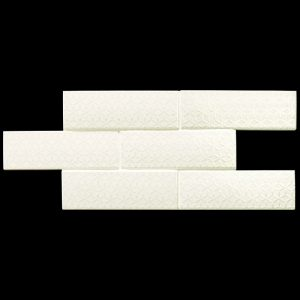 2 LONDON City Victoria White Deco 3x8.7 ceramic wall tile QDI Surfaces product image 800x800 1