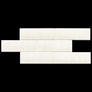 2 LONDON City White Matt Deco 3x8.7 ceramic wall tile QDI Surfaces product image 800x800 1