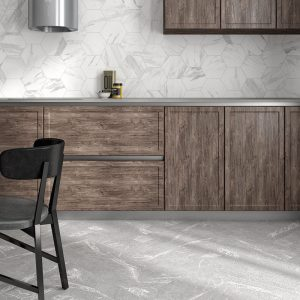 1 ALBION Grey 4x24 porcelain wall tile QDI Surfaces product room scene 800x800 1