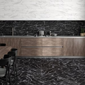 1 ALBION White 4x24 porcelain wall tile QDI Surfaces product room scene 800x800 1
