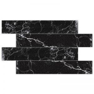 2 ALBION Black 4x24 porcelain wall tile QDI Surfaces product image 800x800 1