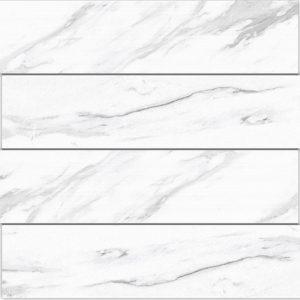 3 ALBION White 4x24 porcelain wall tile QDI Surfaces product close up 800x800 1