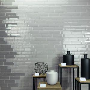 1 LONDON Coal 3x8.7 ceramic wall tile QDI Surfaces product room scene 800x800 1