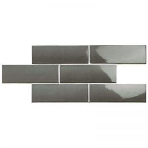 2 LONDON Coal 3x8.7 ceramic wall tile QDI Surfaces product image 800x800 1