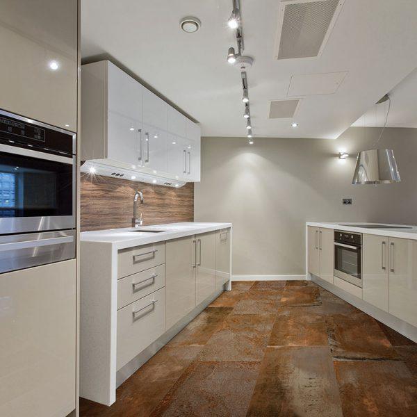 1 AEGEAN MAGMA Copper 18x36 porcelain floor wall tile QDI Surfaces product room scene 800x800 1