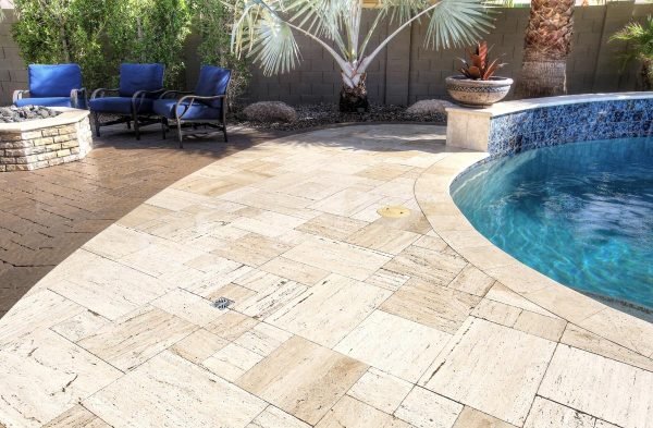 Wet Wooden Pavers 1