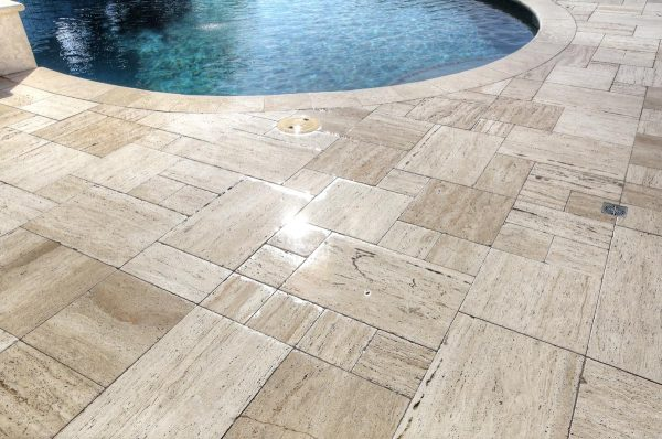 Wet Wooden Pavers 2