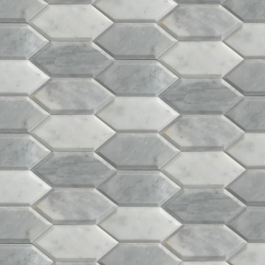 Sida white and gray marble 7x15 1