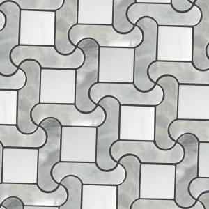 Vitex white and gray marble 10x10 1