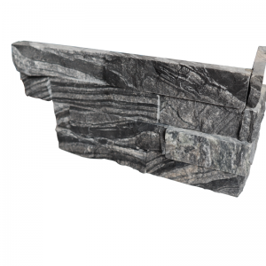 Ledgerstone Split Face Black Forest Quartzite corner 3