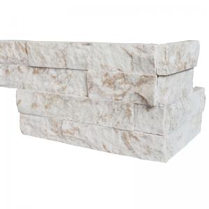 Ledgerstone Split Face Snowy Caramel Quartzite corner 3