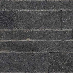 Black Basalt Split Face Tile Black Gray Indoor Outdoor Wall Backsplash Tub Shower Vanity QDIsurfaces