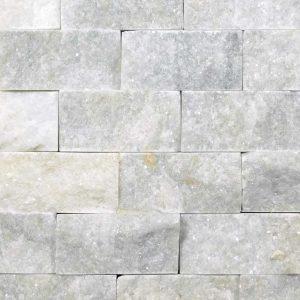 Lusso Carrara Marble Split Face Tile Gray White Indoor Outdoor Wall Backsplash Tub Shower Vanity QDIsurfaces