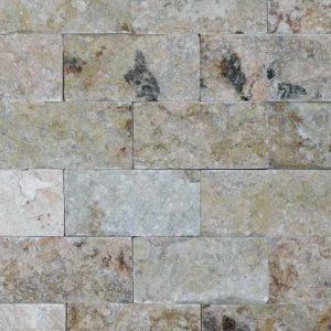 Philadelphia Travertine Split Face Tile Tan Brown Gray White Indoor Outdoor Wall Backsplash Tub Shower Vanity QDIsurfaces