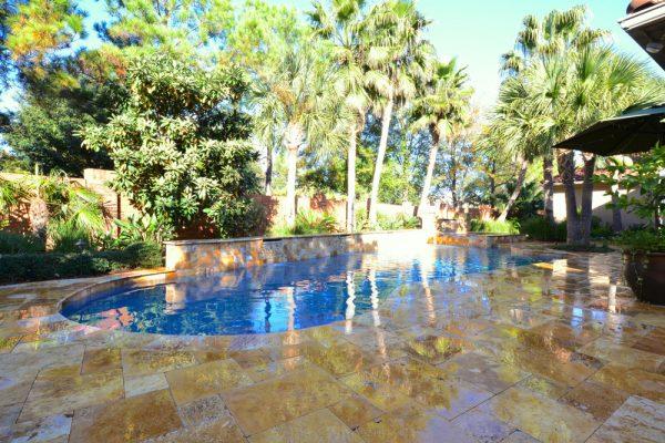 Sedona Fantastico Travertine Paver Versailles Pattern Tumbled 41 Tan Brown Beige Cream Red Pink White Gray Outdoor Floor Wall Pool