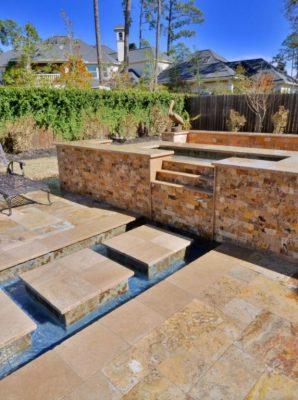 Sedona Fantastico Travertine Paver Versailles Pattern Tumbled 47 Tan Brown Beige Cream Red Pink White Gray Outdoor Floor Wall Pool
