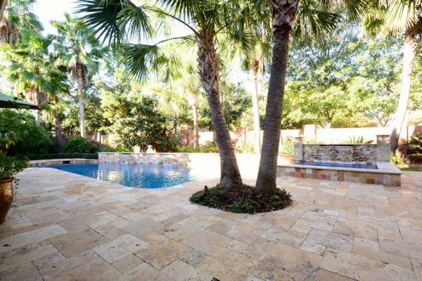 Sedona Fantastico Travertine Paver Versailles Pattern Tumbled 48 Tan Brown Beige Cream Red Pink White Gray Outdoor Floor Wall Pool