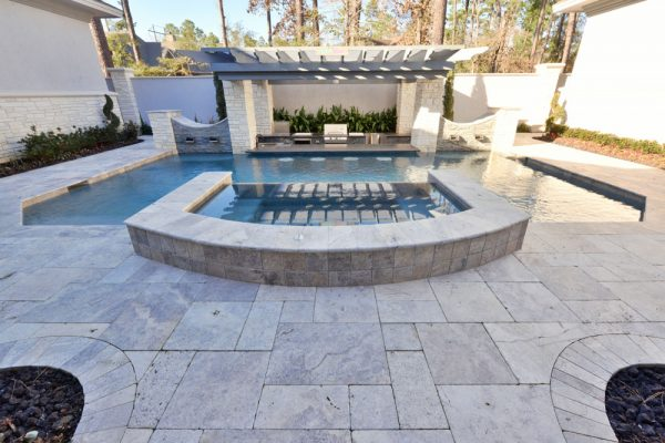 Silver Travertine Paver Versailles Pattern Tumbled 6 Gray White Outdoor Floor Wall Pool Patio Backyard Tub Shower Vanity QDIsurfaces
