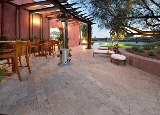 Walnut Travertine Paver 6x12 Tumbled 12 Tan Brown Beige Cream Outdoor Floor Wall Pool Patio Backyard Tub Shower Vanity QDIsurfaces
