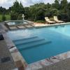 Riviera 12x24x3cm Travertine Pool Coping, Riviera 2x4 Splitface Mosaic