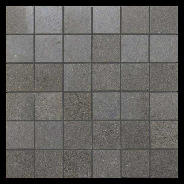 """Black Basalt 2""""x2"""" Basalt Polished Mosaic Tile"""