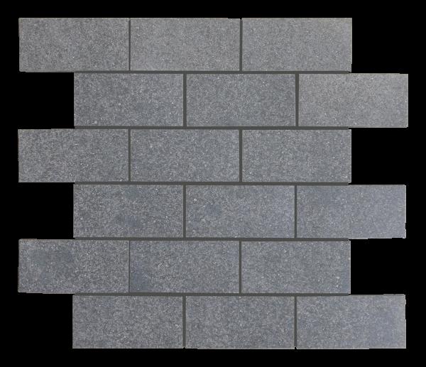 """Black Basalt 2""""x4"""" Basalt Polished Mosaic Tile"""