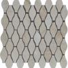Crema Marfil Drops Pattern Marble Polished Mosaic Tile