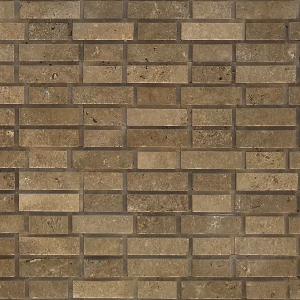 QDI Noce Brick Pattern 6x20 Travertine Split-face Mosaic Tile