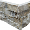 Fantastico 2-Size Corner Piece Travertine Split-face Mosaic Tile