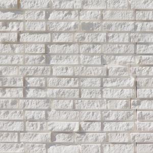 Freska Brick Pattern 6x20 Limestone Split-face Mosaic Tile